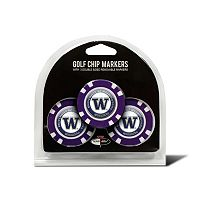 Team Golf Washington Huskies 3-pack Poker Chip Ball Markers
