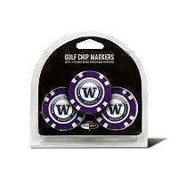 Team Golf Washington Huskies 3-pack Poker Chip Ball Markers