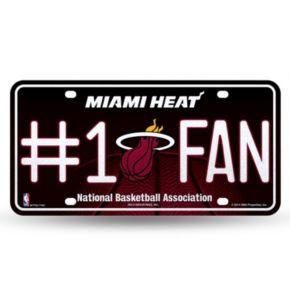 Miami Heat #1 Fan Metal License Plate