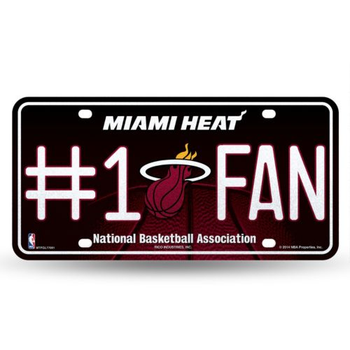Miami Heat #1 Fan Metal License Plate