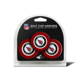Team Golf Arizona Cardinals 3-pack Poker Chip Ball Markers