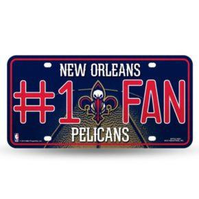 New Orleans Pelicans #1 Fan Metal License Plate