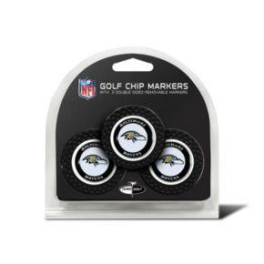 Team Golf Baltimore Ravens 3-pack Poker Chip Ball Markers