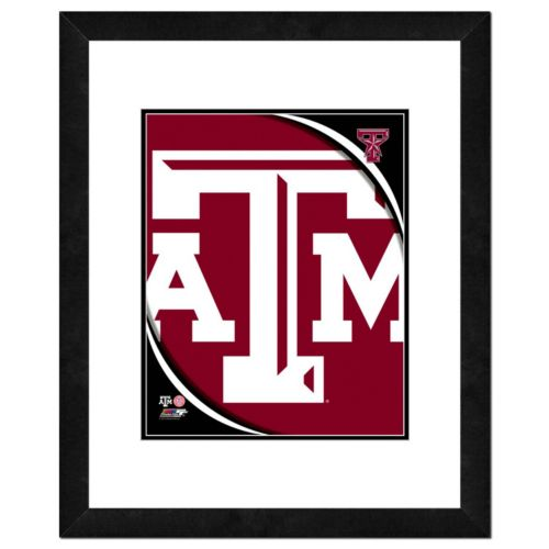 "Texas A&M Aggies Team Logo Framed 11"" x 14"" Photo"