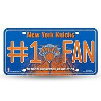 New York Knicks #1 Fan Metal License Plate