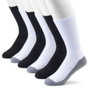 Men's Tek Gear® 6-Pack CoolTEK Crew Socks
