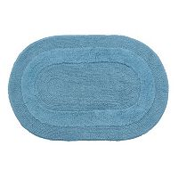 Gracious Solid Double Reversible Bath Rug - 21'' x 34''