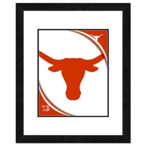 """Texas Longhorns Team Logo Framed 11"""" x 14"""" Photo"""