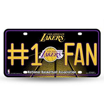 Los Angeles Lakers #1 Fan Metal License Plate