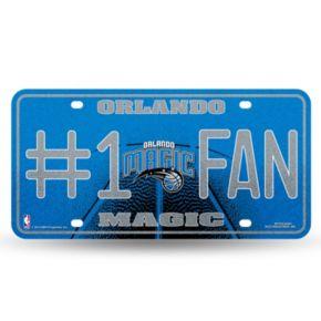 Orlando Magic #1 Fan Metal License Plate