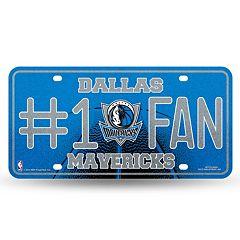 Dallas Mavericks #1 Fan Metal License Plate