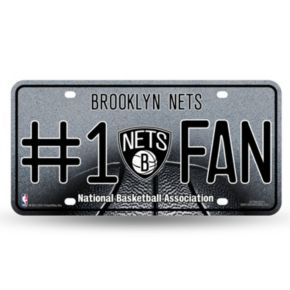 Brooklyn Nets #1 Fan Metal License Plate