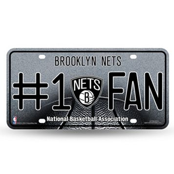 Brooklyn Nets #1 Fan Metal License Plate