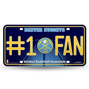 Denver Nuggets #1 Fan Metal License Plate