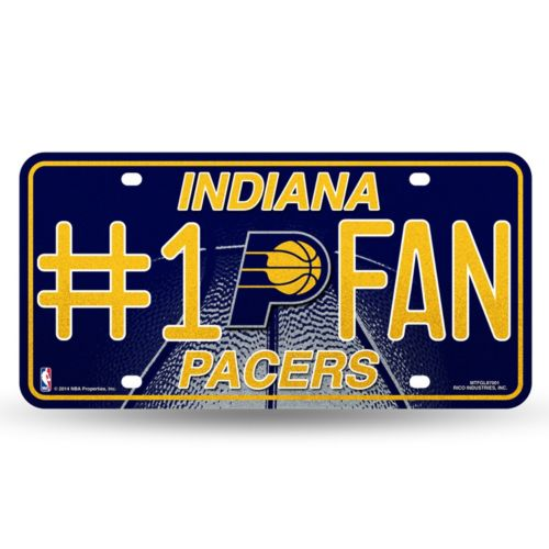 Indiana Pacers #1 Fan Metal License Plate
