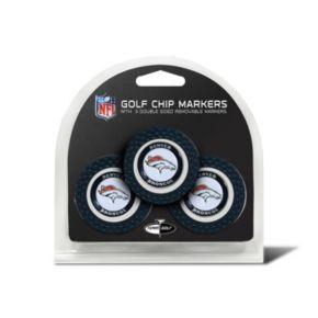 Team Golf Denver Broncos 3-pack Poker Chip Ball Markers