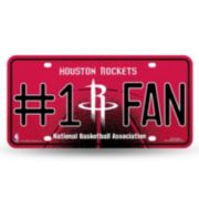Houston Rockets #1 Fan Metal License Plate