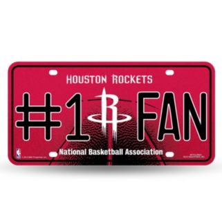 Houston Rockets #1 Fan Metal License Plate