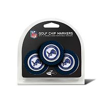 Team Golf Detroit Lions 3-pack Poker Chip Ball Markers
