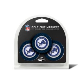 Team Golf Detroit Lions 3-pack Poker Chip Ball Markers