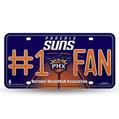 Phoenix Suns #1 Fan Metal License Plate
