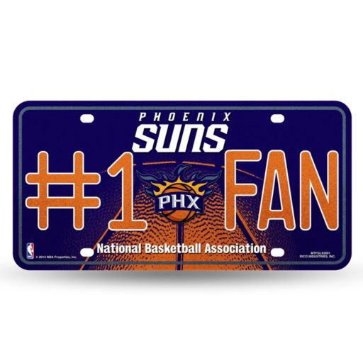 Phoenix Suns #1 Fan Metal License Plate