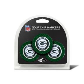 Team Golf Green Bay Packers 3-pack Poker Chip Ball Markers