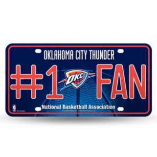 Oklahoma City Thunder #1 Fan Metal License Plate