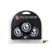 Team Golf Houston Texans 3-pack Poker Chip Ball Markers