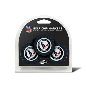 Team Golf Houston Texans 3-pack Poker Chip Ball Markers