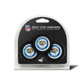 Team Golf Jacksonville Jaguars 3-pack Poker Chip Ball Markers