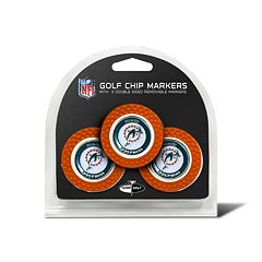 Team Golf Miami Dolphins 3-pack Poker Chip Ball Markers