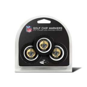 Team Golf New Orleans Saints 3-pack Poker Chip Ball Markers