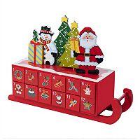 Kurt Adler Santa Sleigh Christmas Advent Calendar