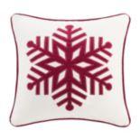Madison Park 20'' x 20'' Velvet Snowflake Throw Pillow