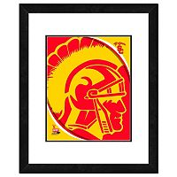 USC Trojans Team Logo Framed 11