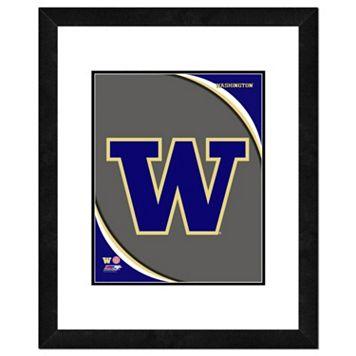 Washington Huskies Team Logo Framed 11
