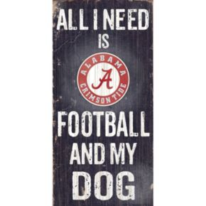 Alabama Crimson Tide Football & My Dog Sign