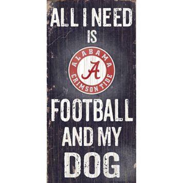 Alabama Crimson Tide Football & My Dog Sign