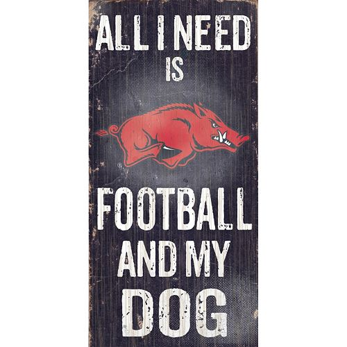 Arkansas Razorbacks Football & My Dog Sign