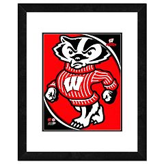 Wisconsin Badgers Team Logo Framed 11' x 14' Photo