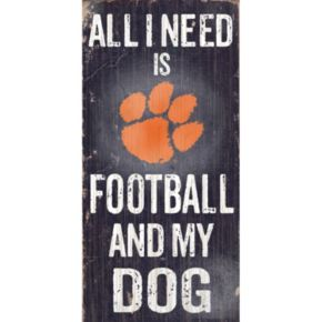 Clemson Tigers Football & My Dog Sign