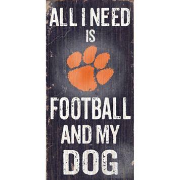 Clemson Tigers Football & My Dog Sign