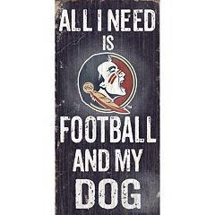 Florida State Seminoles Football & My Dog Sign