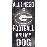 Georgia Bulldogs Football & My Dog Sign