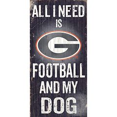 Georgia Bulldogs Football & My Dog Sign