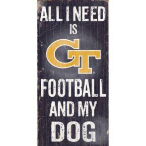 Georgia Tech Yellow Jackets Football & My Dog Sign