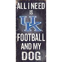 Kentucky Wildcats Football & My Dog Sign