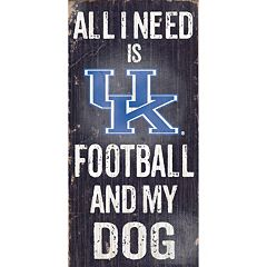Kentucky Wildcats Football & My Dog Sign