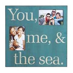 Melannco 2-Opening 4'' x 6'' ''Sea'' Collage Frame